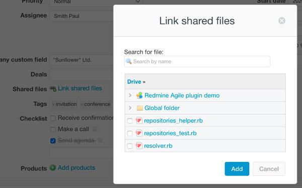 redmine drive plugin issue attachments