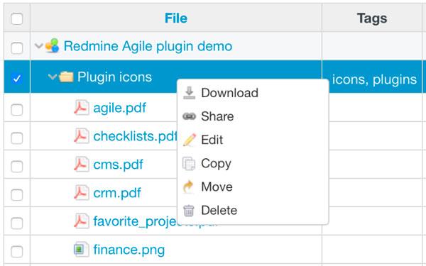 Redmine Drive Plugin -folders